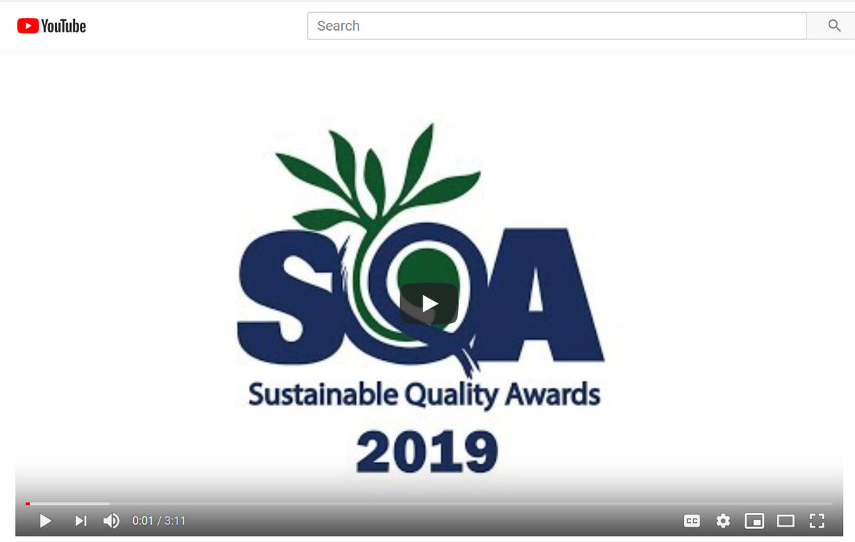 PS1 Featured in Sustainable Quality Awards Video